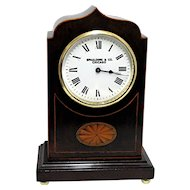 French Inlaid Mantel Clock 100% Original