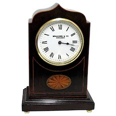 French Inlaid Mantel Clock 100% Original