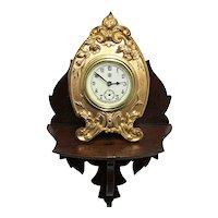 Victorian Walnut Shelf or Clock Shelf