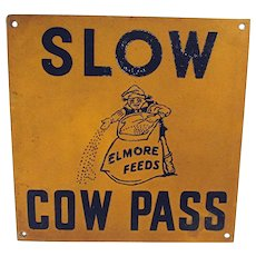 Elmore  Feeds Farm Advertising Sign
