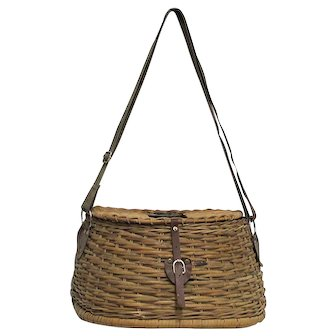 Hand Woven Fishing Creel with Shoulder Strap