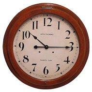 "Seth Thomas Clock 24"" diameter 30 Day Wall Clock"