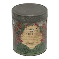 Advertising Coffee Tin 3 pound Larkin Coffee