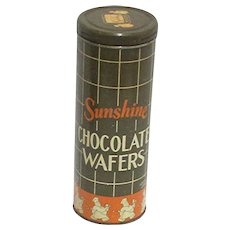 Advertising Tin for Sunshine Chocolate Wafers