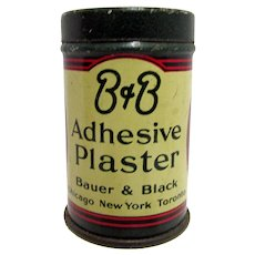 Pharmacy Advertising Tin B & B Adhesive Plaster