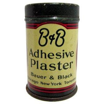Pharmacy Advertising Tin B & B Adhesive Plaster