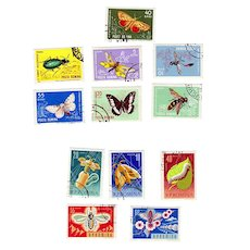 Romania Postage Stamps 1964 Insect and 1963 Bee Sets  12 Stamps