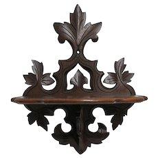 Victorian Folding Wall Shelf Black Walnut