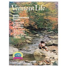 Vermont  Life 40th Anniversary Magazine  Autumn 1986