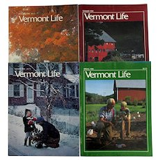Vermont Life Magazine 1980 Four Issues the Seasons Winter Spring Summer Autumn