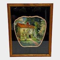 Advertising Fan Framed  Home Sweet Home 1929