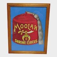 Shrine Circus Advertising Fan Framed