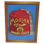 Shrine Circus Advertising Fan Framed