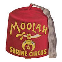 Advertising Moolah Fan Shrine Circus and Wabash Railroad