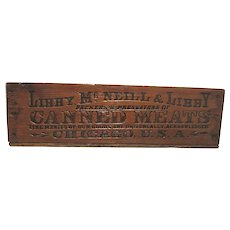 Early Libbys Canned Meats Wood Crate or Advertising Shipping Box