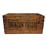 Beacon Falls Rubber Shoe Company Wood Advertising Box or Shipping Crate