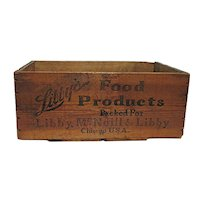 Large Libbys Food Products Wood Advertising Box or Shipping Crate