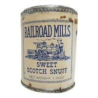 Railroad Mills Snuff Unopened Advertising Tin