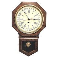 Ingraham Calendar Wall Clock