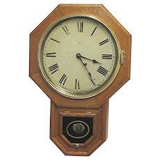 Antique Seth Thomas Regulator Wall Clock Tiger Oak   $795  ON SALE