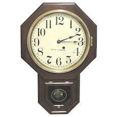 Seth Thomas Mahogany Regulator Wall Clock