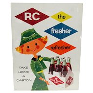 Royal Crown Cola Advertising Sign Pixie Lady