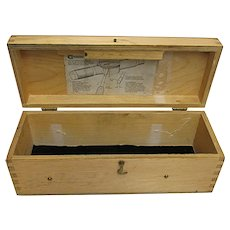Standard Gage Co Wood Box for Dial Gage Bore No. 4  Advertising Box