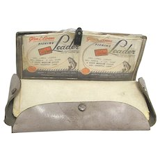 Gray Leather Fly Fishing Wallet