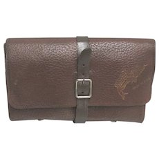 Textured Leather Fly Fishing Wallet