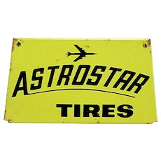 Astro Star Tires Metal Automotive Advertising Sign