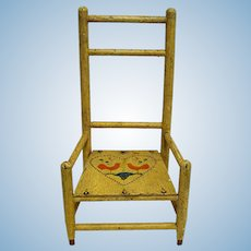 Doll Chair Pennsylvania Dutch Original Paint and Decoration