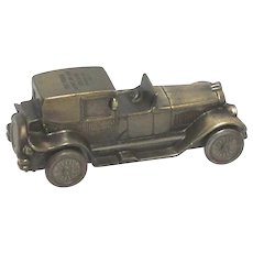 1927 Lincoln Broughman Banthrico Cast Metal Car Savings Bank