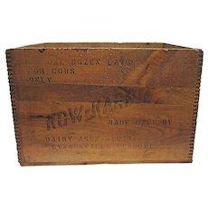 Kow Kare Wood Advertising Box Shipping Crate