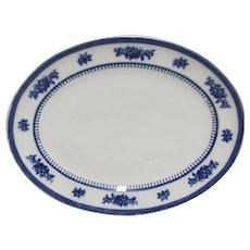 Losol Ware Blue and White Platter  English Circa 1912-1930