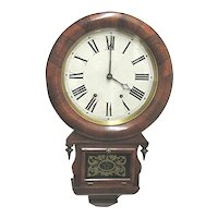 Rosewood Wall Clock 1870  Ansonia  Brass & Copper Co. 100% Original