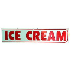 Advertising Sign ICE CREAM Metal