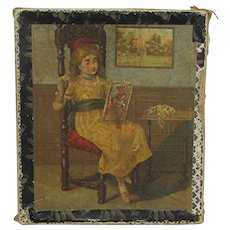 Victorian Hankie Box for Handkerchiefs or Hankys