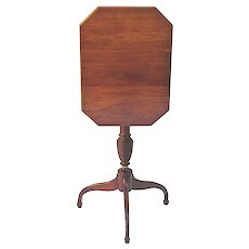 Antique Furniture American Tilt Top Table
