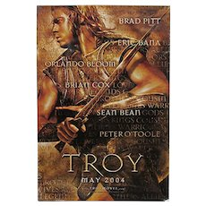 Full Size Movie Poster Brad Pitt in Troy