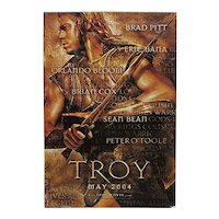 Full Size Original Movie Poster Brad Pitt in Troy