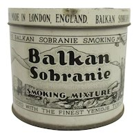 Advertising Tobacco Tin For Balkan Sobranie Original Smoking Mixture Advertising Tin