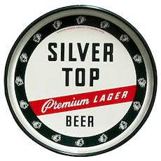 Advertising Beer Tray Silver Top Beer Pittsburgh PA.