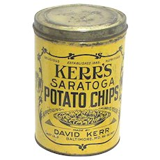 Advertising Tin Kerr's Potato Chips One Pound Tin RARE