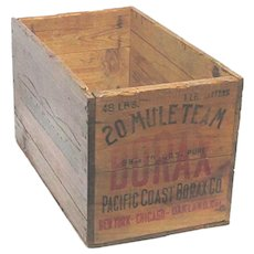 Wood Advertising Box 20 Mule Team Borax Shipping Crate