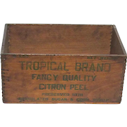 Wood Advertising Box for Tropical Brand Citron Peel