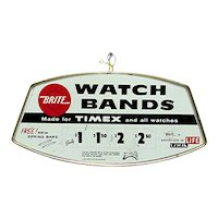 Advertising Metal Sign for BRITE Watch Bands