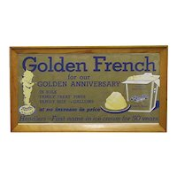 Advertising sign for Hendlers Golden French Ice Cream Framed