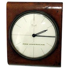 SOLD  Nov. 2019  Advertising Desk Clock for Pan American Airline