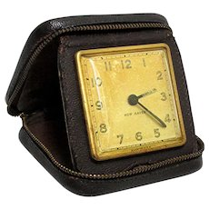 New Haven Travel Clock Leather Case