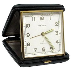 Travel Alarm Clock Leather Case